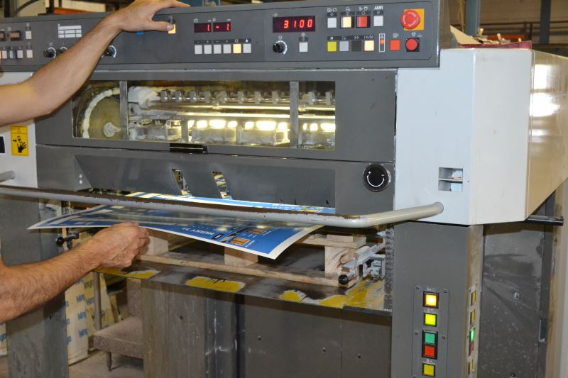 Printing plant producing print jobs